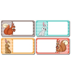 Label design with cute animals vector