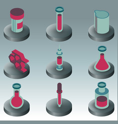 laboratory color isometric icons vector image