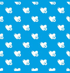 like pattern seamless blue vector image