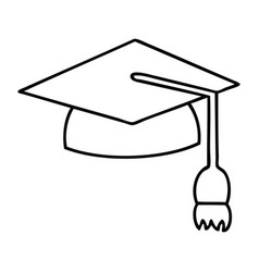 Graduation Cap Line Drawing Vector Images (over 360)