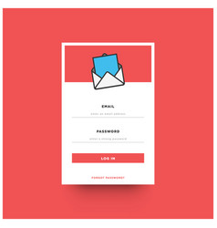 log in box ui design vector image