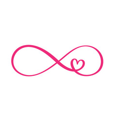 Love word in the sign of infinity sign on vector