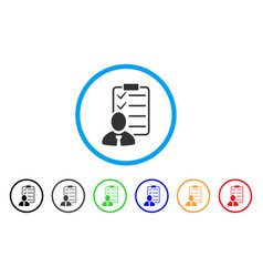 Manager check list rounded icon vector