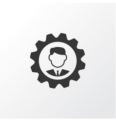 Manager icon symbol premium quality isolated vector