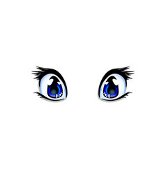 manga anime blue eyes for creation cartoon kawaii vector image