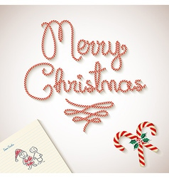Merry Christmas dear santa sketchy letter vector