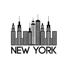New york city scene vector