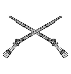 old musket vector image