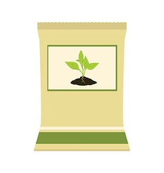 Paper bag with fertilizer vector image