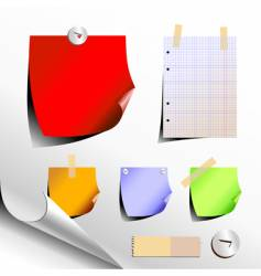 paper elements vector image vector image