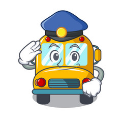 police school bus character cartoon vector image