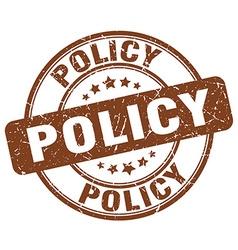 Policy brown grunge round vintage rubber stamp vector