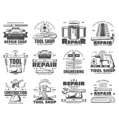 Repair service and work tools icons vector