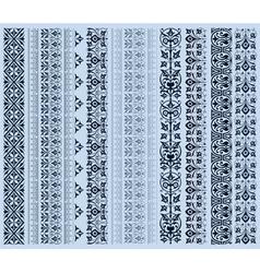 retro set lines vector image