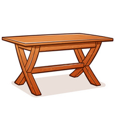 Rustic wooden table vector