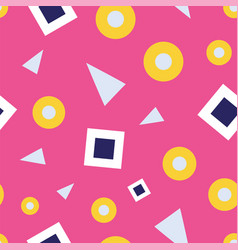 seamless pattern bubbles and triangles on a vector image