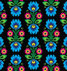 Seamless traditional floral Polish folk pattern vector image