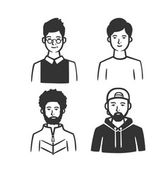 set different types men vector image