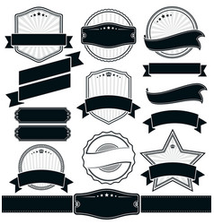 set labels and ribbons template vector image
