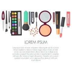 Set of colorful cosmetic isolated on a white vector image