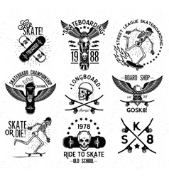 Skateboard Skeleton Design elements vector image