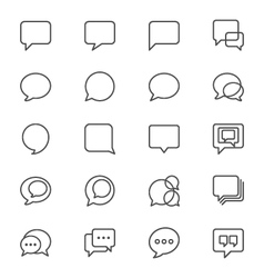 Speech bubble thin icons vector image