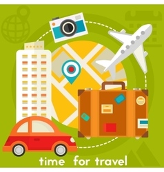 Time For Travel Concept vector image