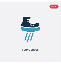 two color flying shoes icon from sports concept vector image