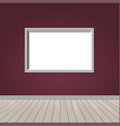 Wall window and wooden floor vector