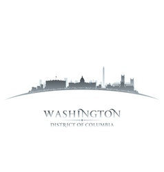 Washington DC city skyline silhouette vector