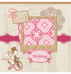 Wedding Scrapbook Card vector image