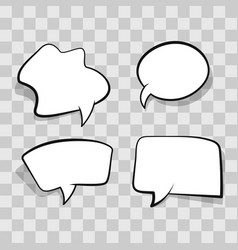 White comic speech bubble isolated on transparent vector