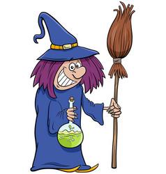 Witch halloween character cartoon vector