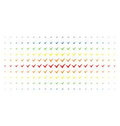 yes spectrum halftone array vector image