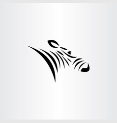 zebra logo symbol element icon vector image