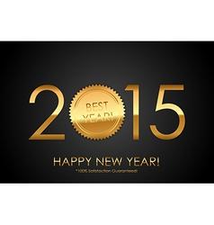 Certificate - 2015 Best Year 100 Satisfaction vector image