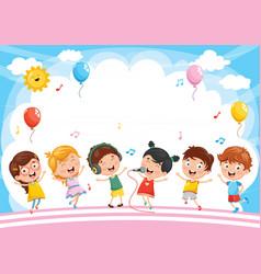 kids background vector image