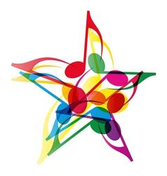 Music Star vector image