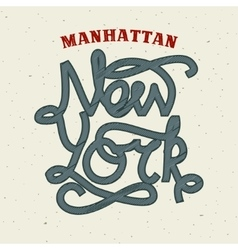 New York lettering print template vector image vector image
