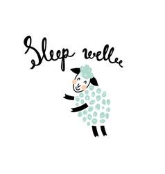 one more sleeping sheep vector image