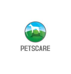pets care logo vector image