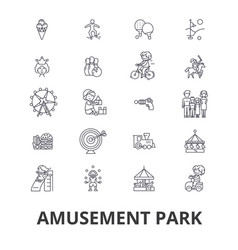 amusement park roller coaster carousel carnival vector image
