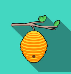 beehive icon in flat style isolated on white vector image