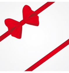 big red bow for packaging vector image vector image