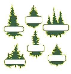 Logo templates with trees vector