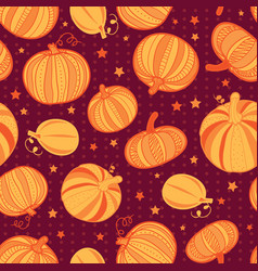 orange dark red pumpkins polka dots vector image