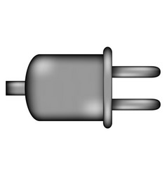 Power cord sign icon vector