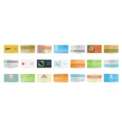 Set of Business Card in vector image vector image
