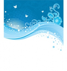 blue curve vector image vector image