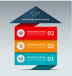 Infographic arrow design template with 3 options vector image vector image